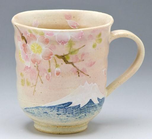 マグカップ 桜に富士.jpg